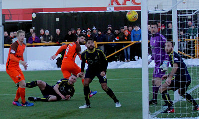 Mark Durnan scoring the first goal
