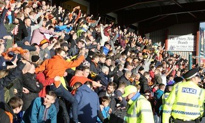 FANS AT ROSS COUNTY PREVIOUSLY