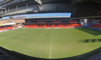 image shows view from gantry at tannadice