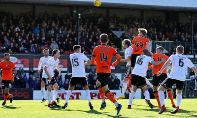 PAUL Watson wins an aerial challenge against thew ayr defence at somerset park in the sunshine.