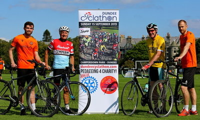 Sam Stanton and Mark Reynolds promoting the Cyclathon