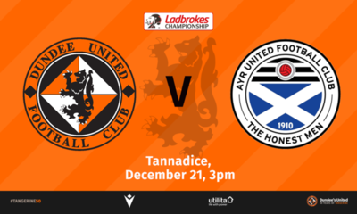 Mark Kerr's Ayr United are the visitors to Tannadice this weekend.