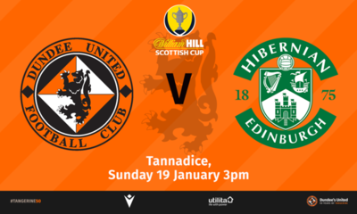 Jack Ross' Hibernian make the trip to Tannadice on Sunday
