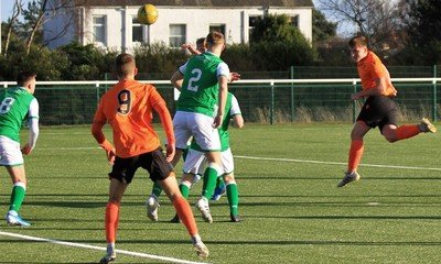 Adam Hutchinson nods home United's first goal
