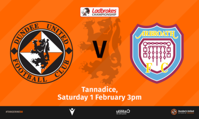 ARBROATH ARE THE VISITORS TO TANNADICE THIS WEEKEND