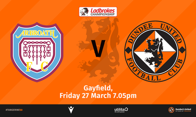 Arbroath v Dundee United graphic