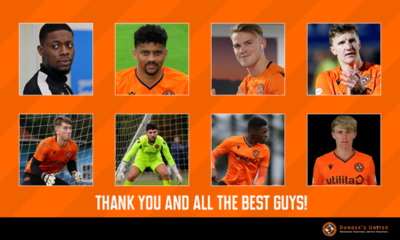 PICTURE SHWING THE EIGHT PLAYERS WHO ARE LEAVING TANNADICE
