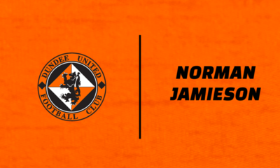 Graphic featuring Norman Jamieson and Dundee United logo