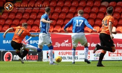 Cammy Smith scores United's goal