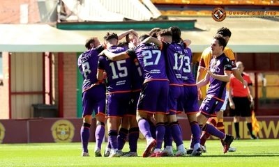 Players celebrate saturdays goal