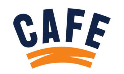 Cafe Logo with a tangerine tint
