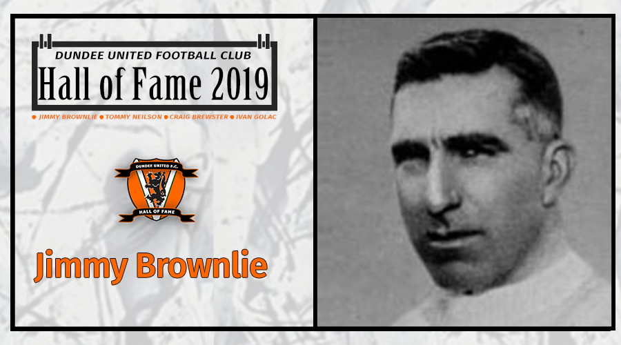 image showing hall of fame crests and picture of jimmy brownlie