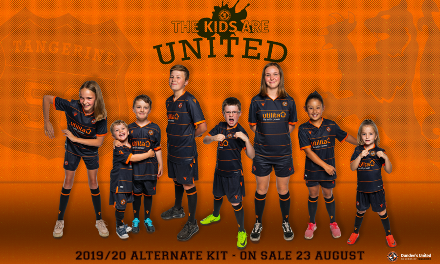 Graphic shows kids in the new alternate kit