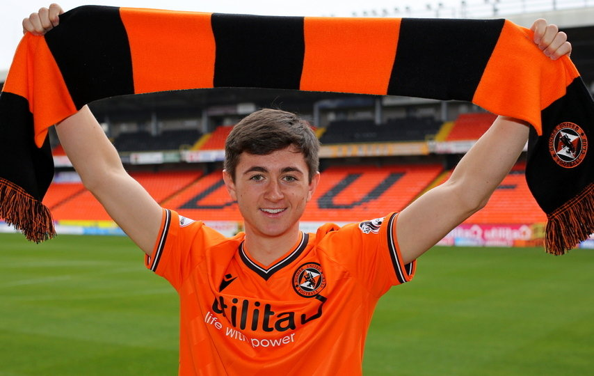 Declan Glass is delighted to commit his future to Dundee United