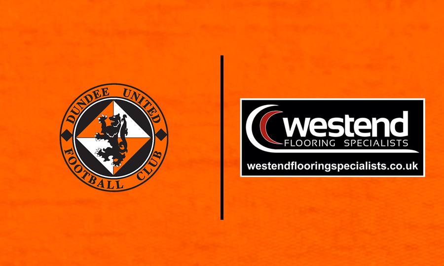 Dundee United and WestEnd Flooring crests