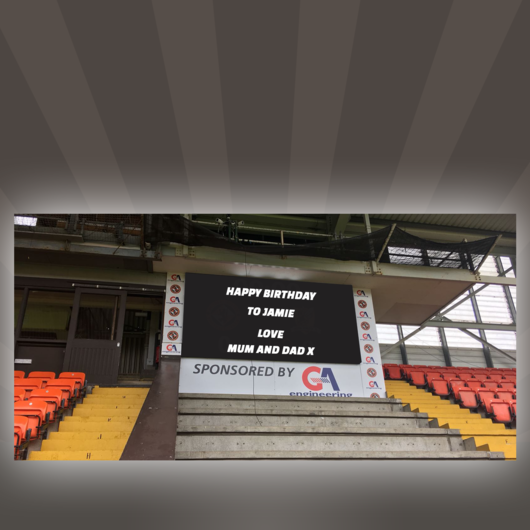 SCOREBOARD MESSAGE (TEXT ONLY)